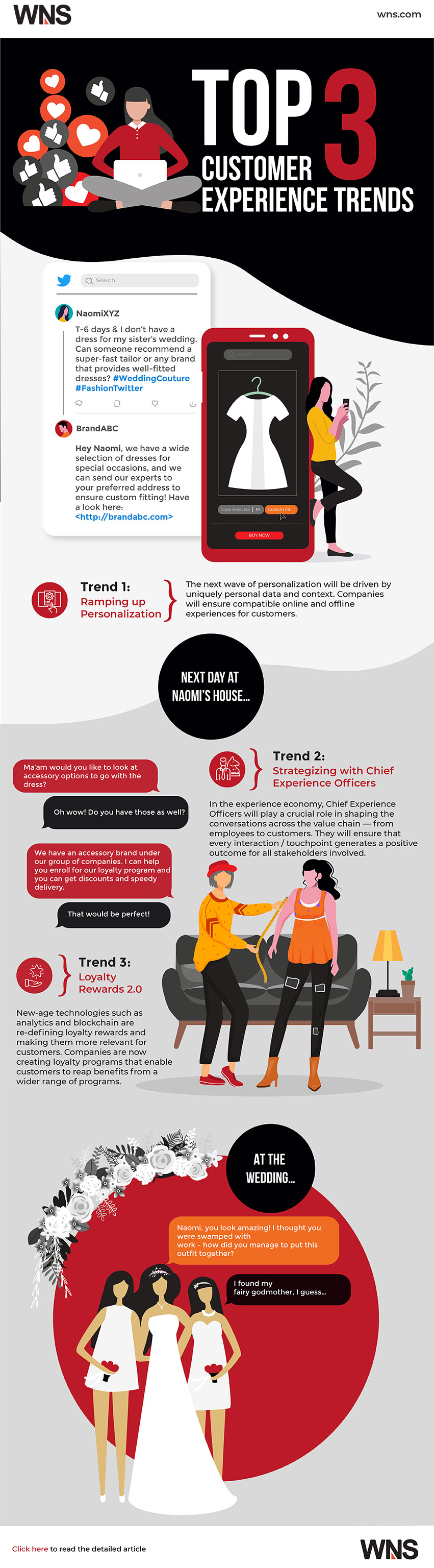 Top 3 Customer Experience Trends Infographic