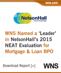 WNS Named a 'Leader' in NelsonHall's NEAT Evaluation for Mortgage & Loan (M&L) BPO (Overall)