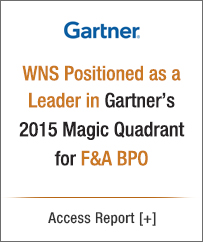 WNS is a Leader in Gartner's 2015 Magic Quadrant for F&A BPO service