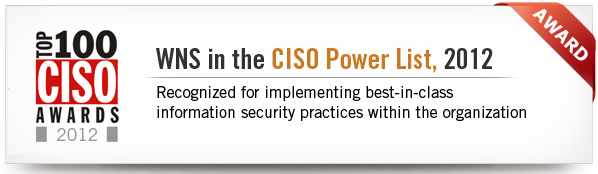 WNS in CISO Power List 2012