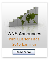 WNS Announces Third Quarter Fiscal 2015 Earnings